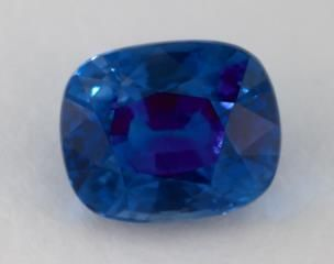 gemstones, blue sapphire, 3.56 carat cushion sku 14596 - Mobile