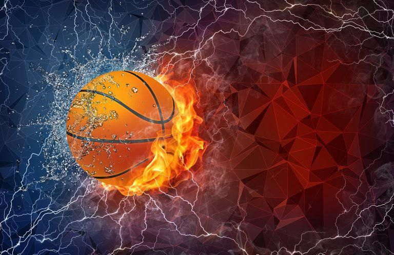 Basketball Ball In Fire And Water Streetbasketball Basketball Wallpaper Nba Wallpapers Basketball Wallpapers Hd