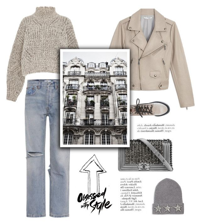 """""""Obsessed with style"""" by little-vogue ❤ liked on Polyvore featuring Dolce Vita, Rebecca Minkoff, Chanel, RE/DONE, Isabel Marant, KEEP ME, Saks Fifth Avenue Collection, grey, fashionset and polyvoreeditorial"""