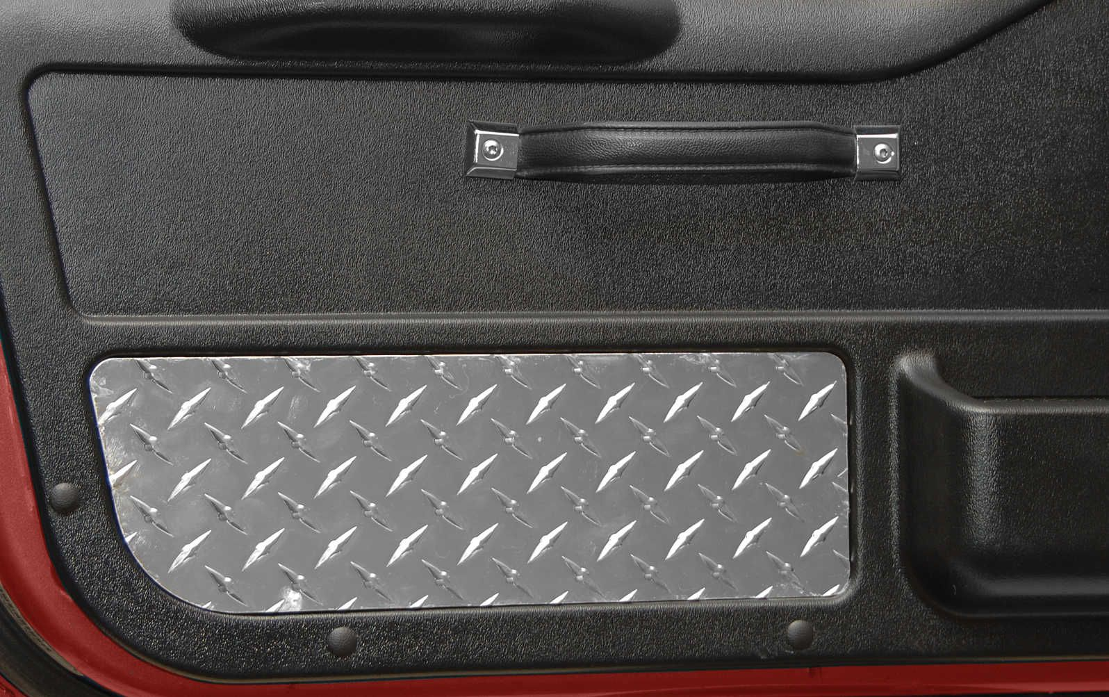 Gauge Works 90 001 Replacement Door Panels With Diamond Plate Inserts For 87 95 Jeep Wrangler Yj 1 2 Steel Doors Diamond Plate Jeep Wrangler Yj Jeep