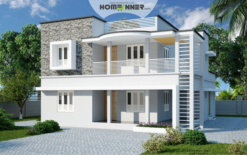 Sq Ft Bhk Contemporary Flat Roof Home Design Homeinner Sq Feet Flat Roof Contemporary Home Design Home Kerala Plans Sq Ft Bhk Contemporary Flat Roof Home Desig