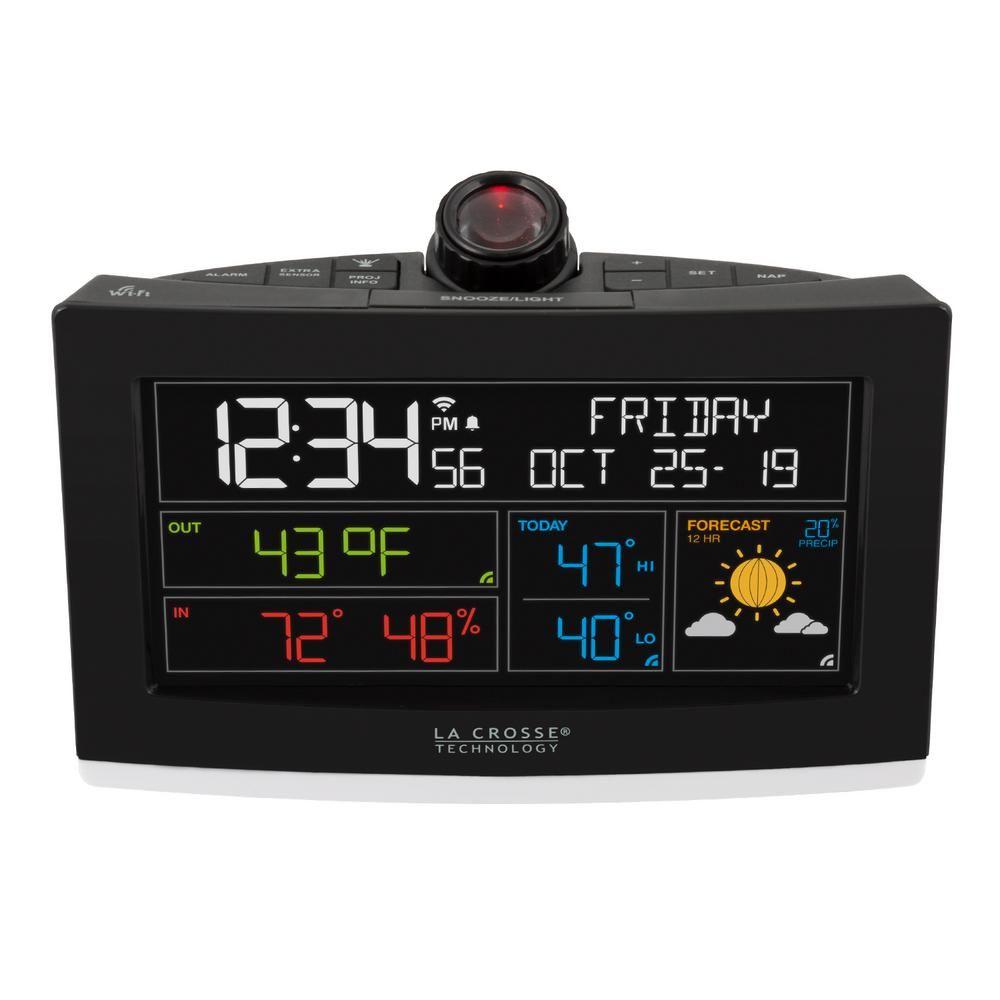 La Crosse Technology WiFi Weather Projection Alarm Clock