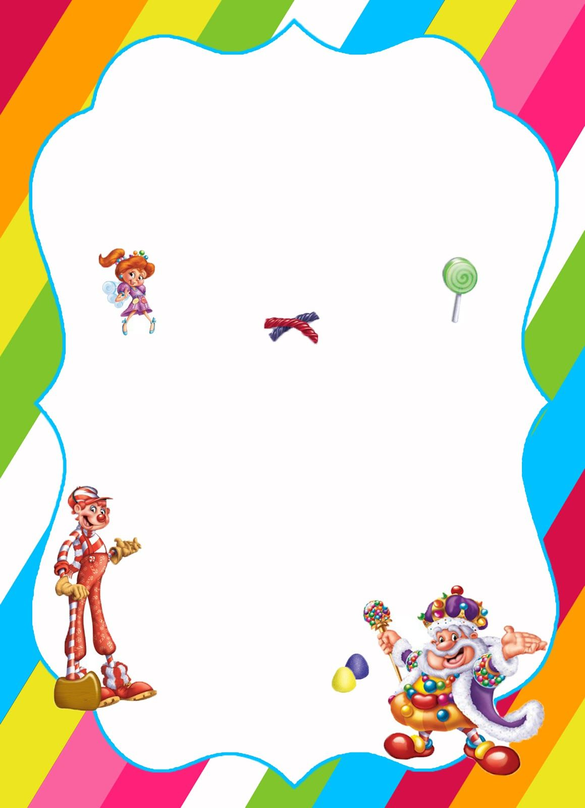 free candyland theme birthday party downloads. free invitations ...