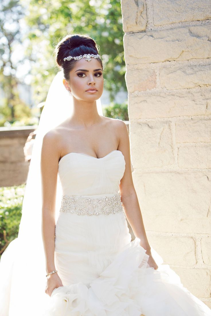 gorgeous wedding hairstyles with veil african american weddings