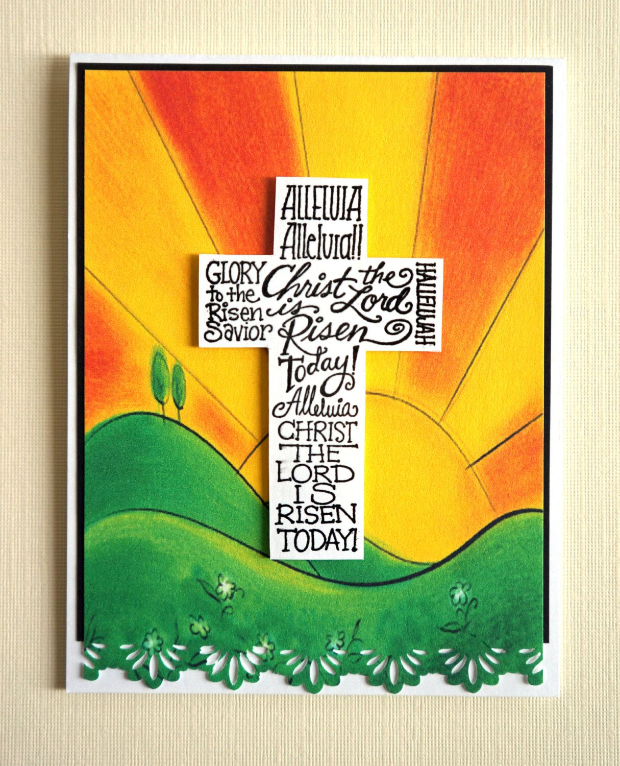 Ideas For Easter Cards To Make Part - 43: Handmade Easter Card - Christ Is Risen, Religious (SCR-01). $6.00