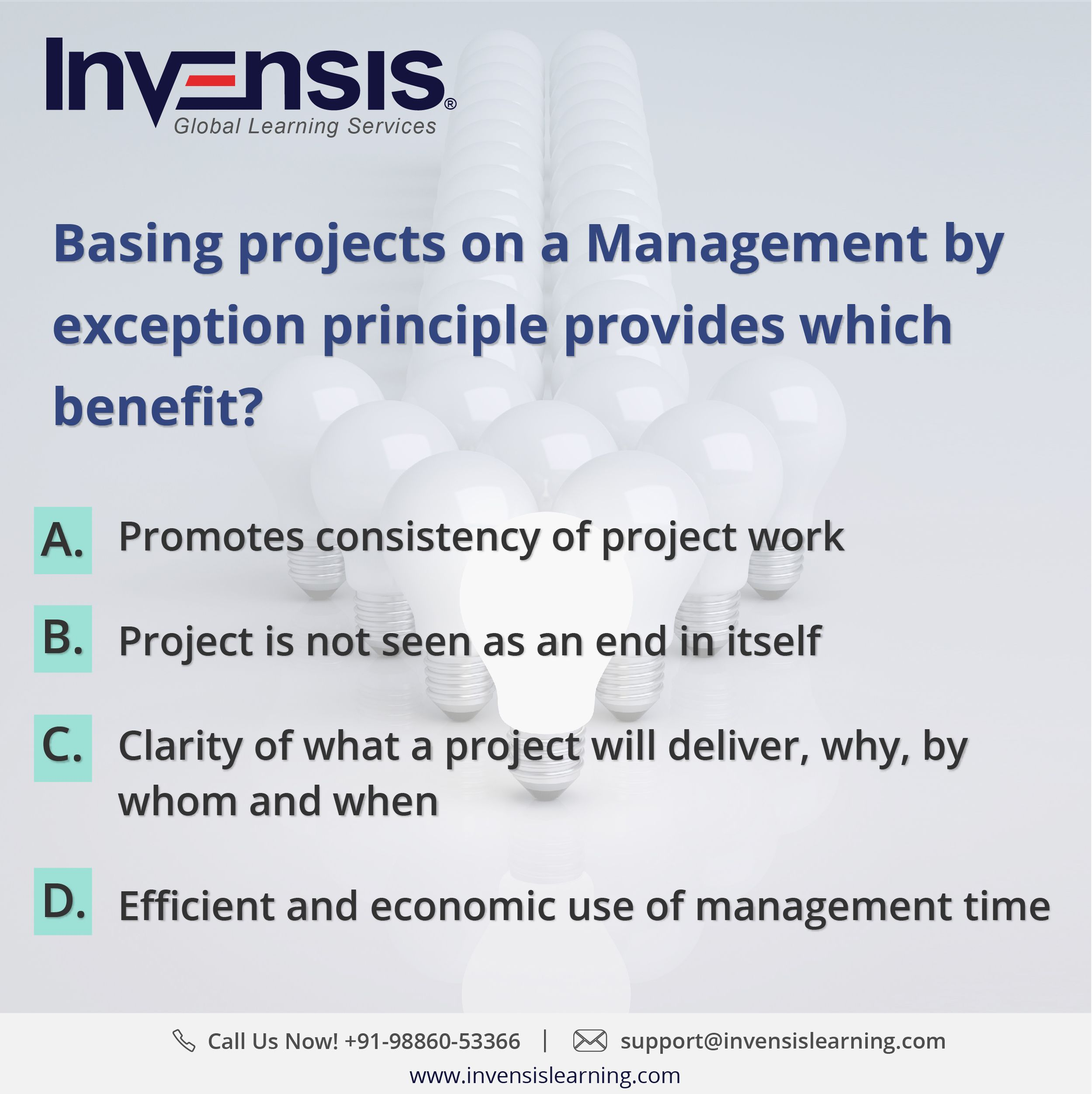 Basing projects on a management by exception principle provides get 2 prince2 foundation practice tests with our prince2 certification training in bangalore india please visit invensislearning for more xflitez Images