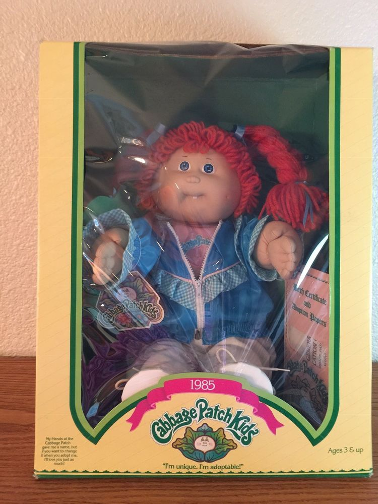 Vintage 1985 Cabbage Patch Kid Girl With Red Hair And One Tooth Coleco Cabbage Patch Kids Cabbage Patch Kids Dolls Cabbage Patch