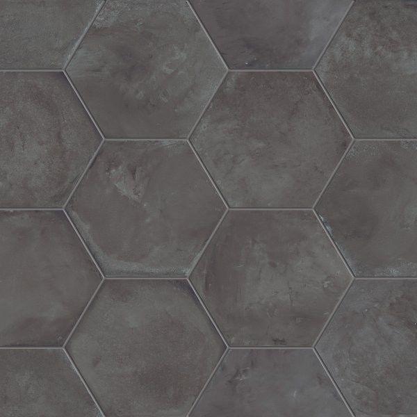 Marca Corona #Terra Nero Esagonale 25x21,6 cm 0094 | #Gres ...