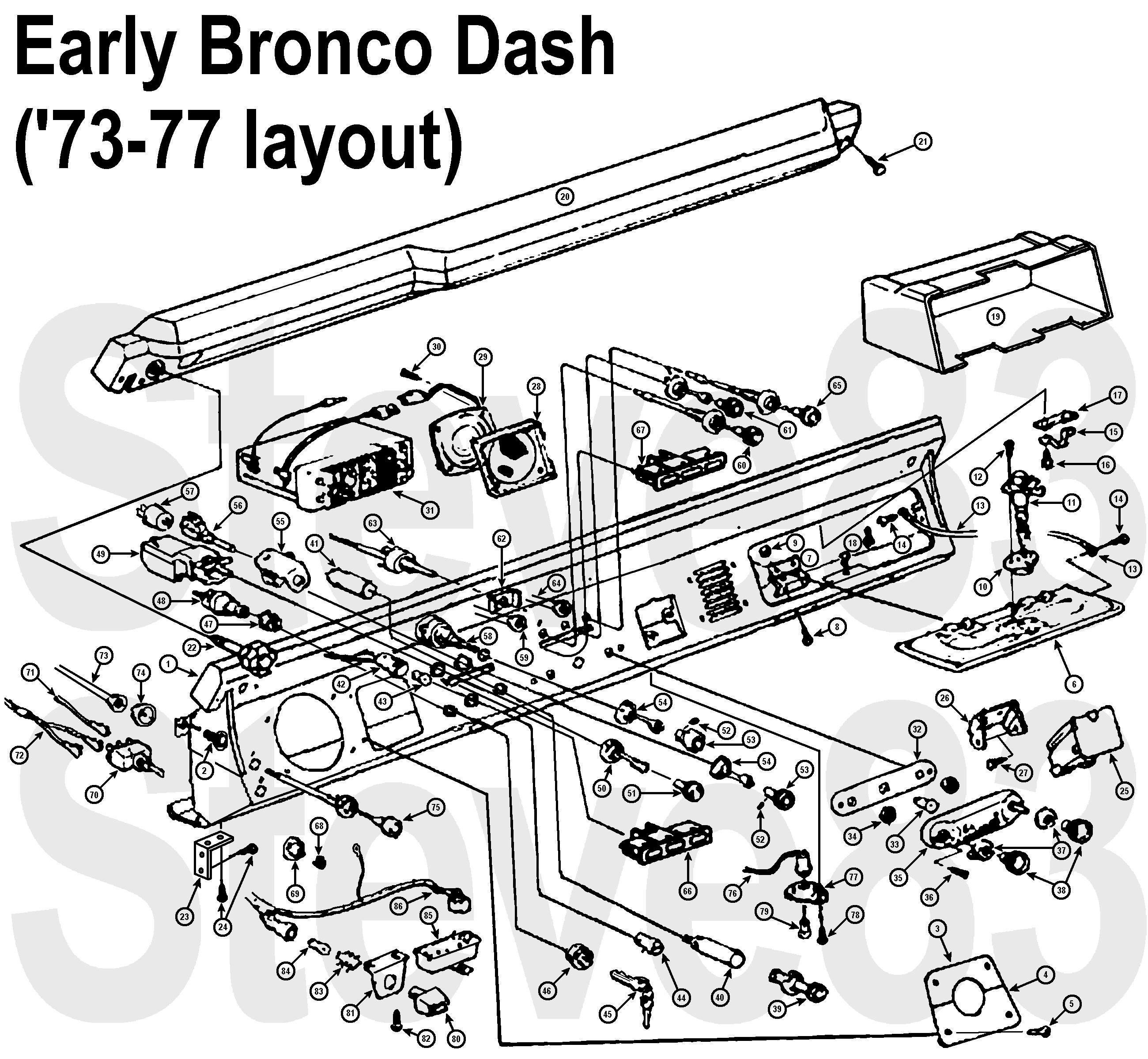 bronco dash diagram electrical diagrams forum u2022 rh jimmellon co uk