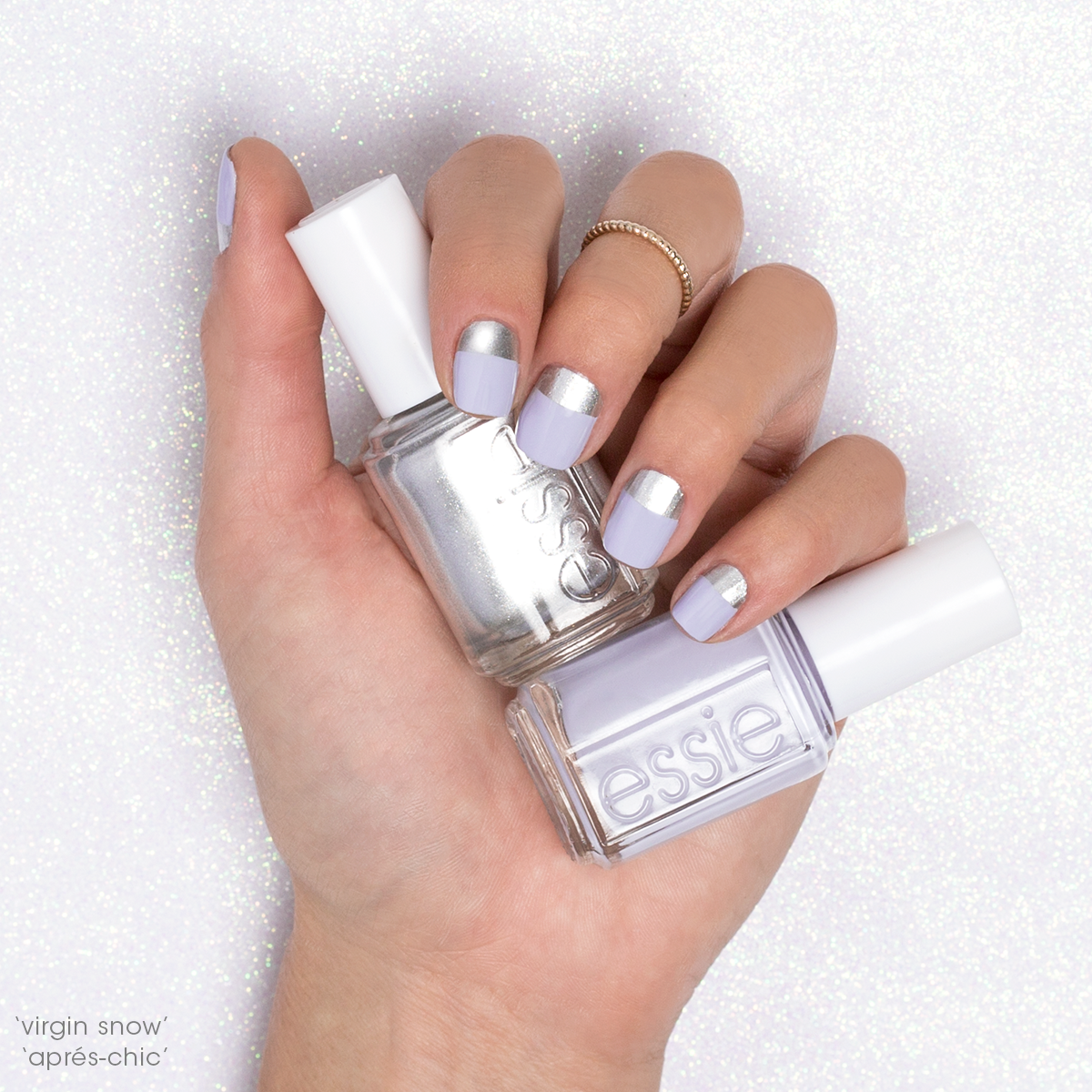 Toast chalet season with a chic contrast mani in... - essie   Haar ...
