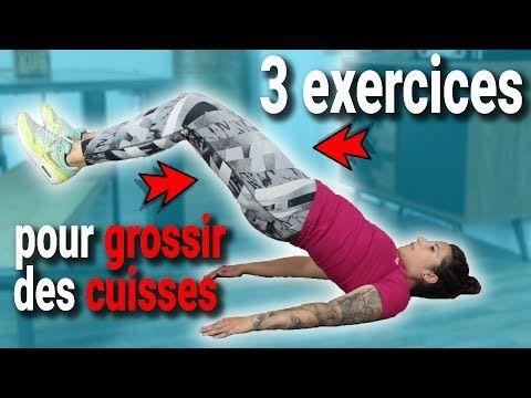 3 exercices pour GROSSIR DES CUISSES - YouTube en 2020 ...