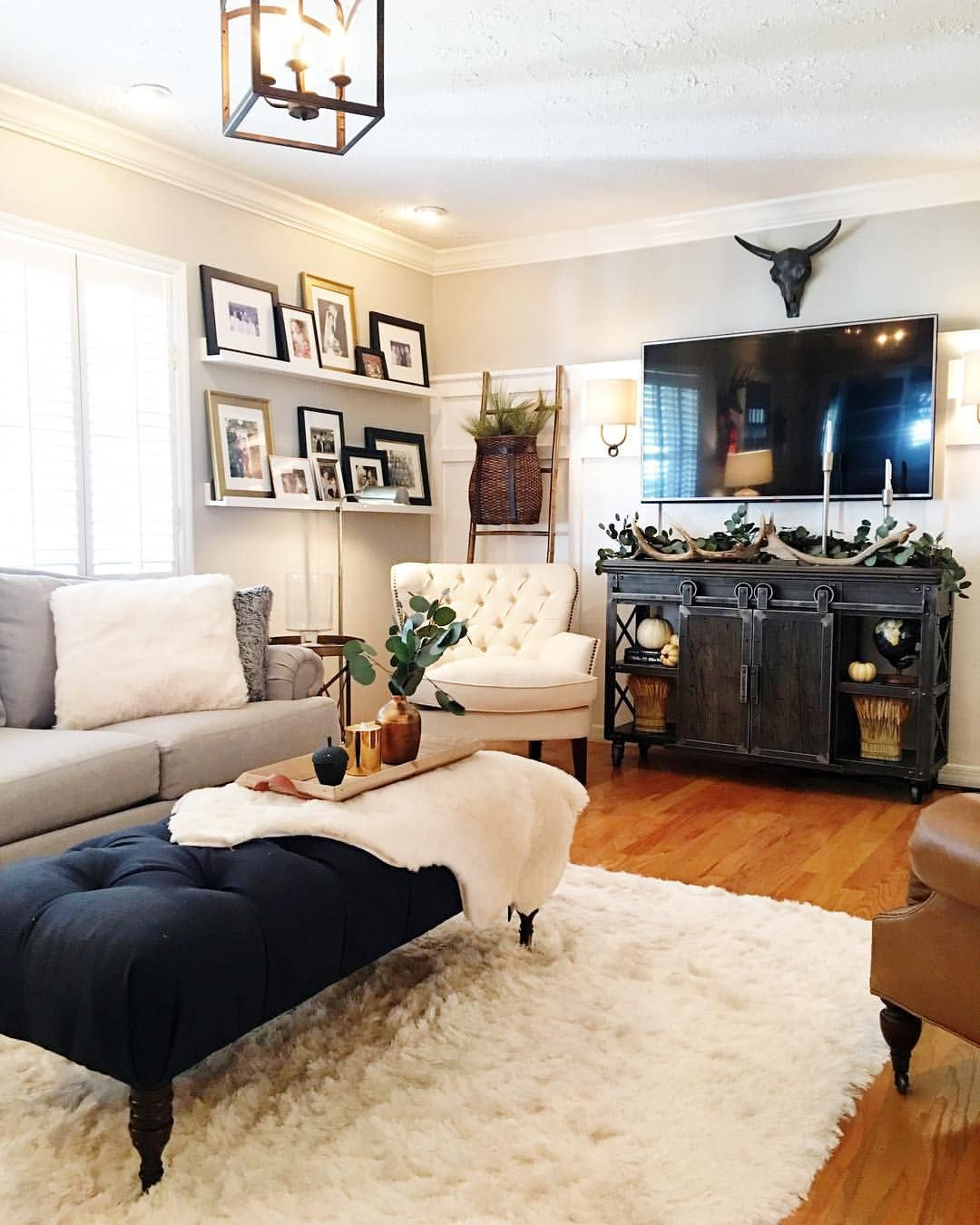 mixing old with new! | bungalow living rooms, living room