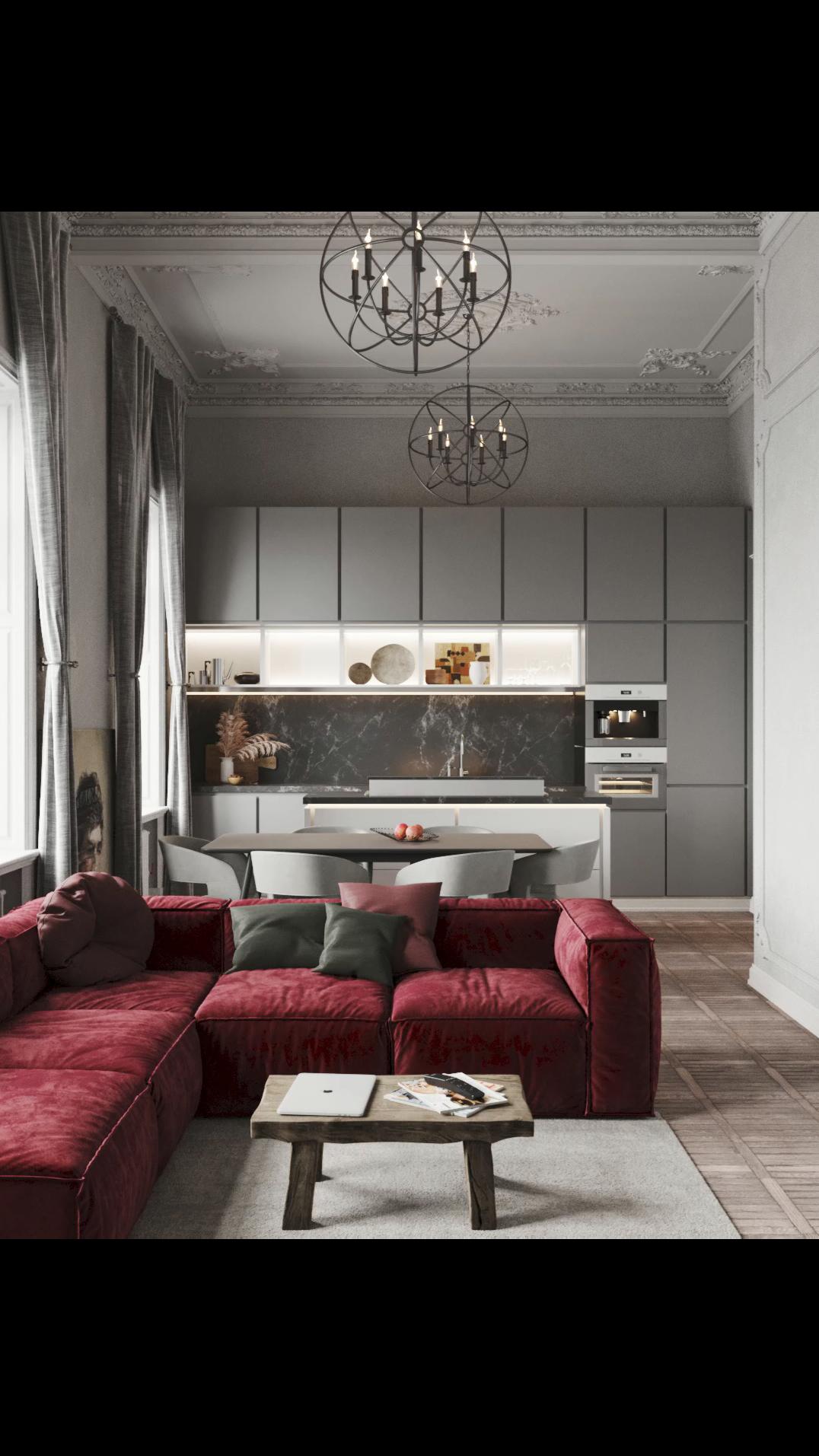 One-bedroom apartment interior design