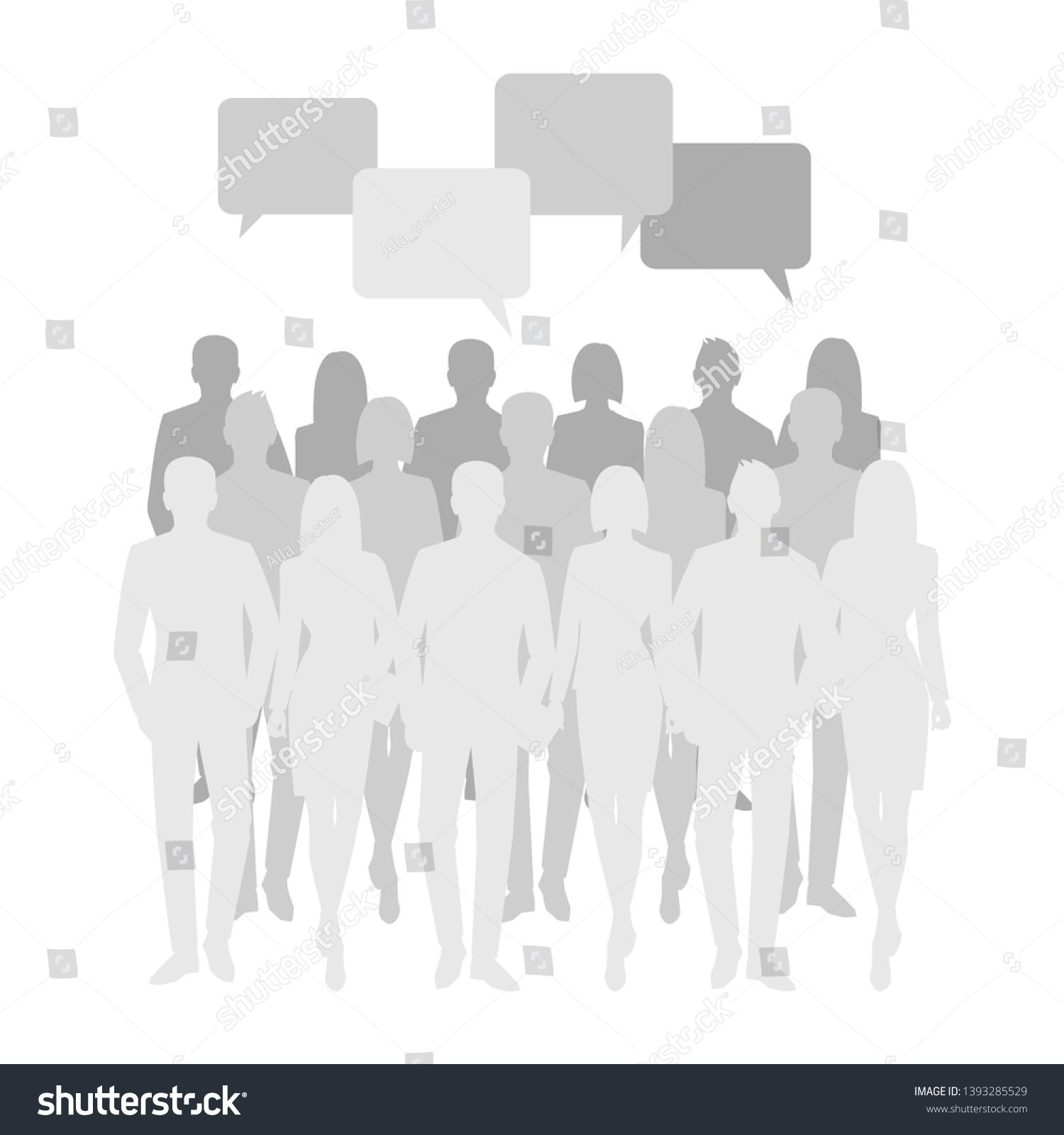 Business Men And Women Silhouette Team Business People Group Hold
