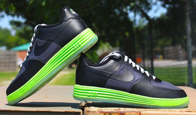 timeless design cde27 77e44 Nike Lunar Force 1 Black Flash Lime