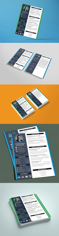 Free Download Elegant Resume / CV Mockup (PSD) Freebies
