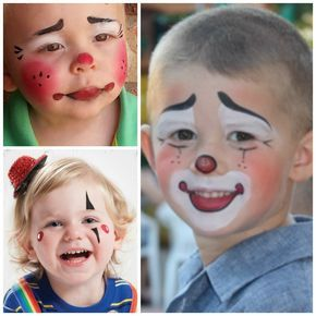 kinderschminken clown schminken pinterest face paintings. Black Bedroom Furniture Sets. Home Design Ideas