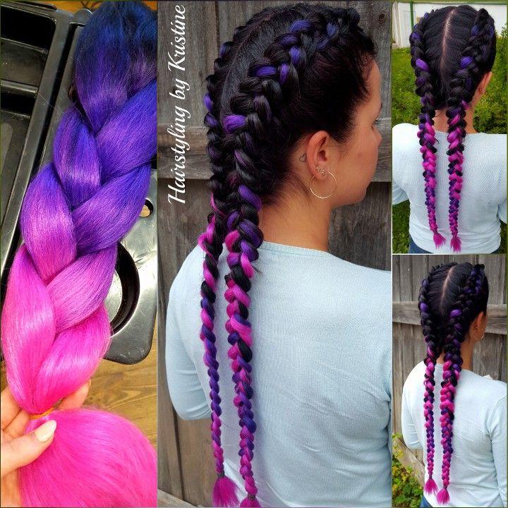 Braids with extensions 💕 #braids #kardashianbraids # ...