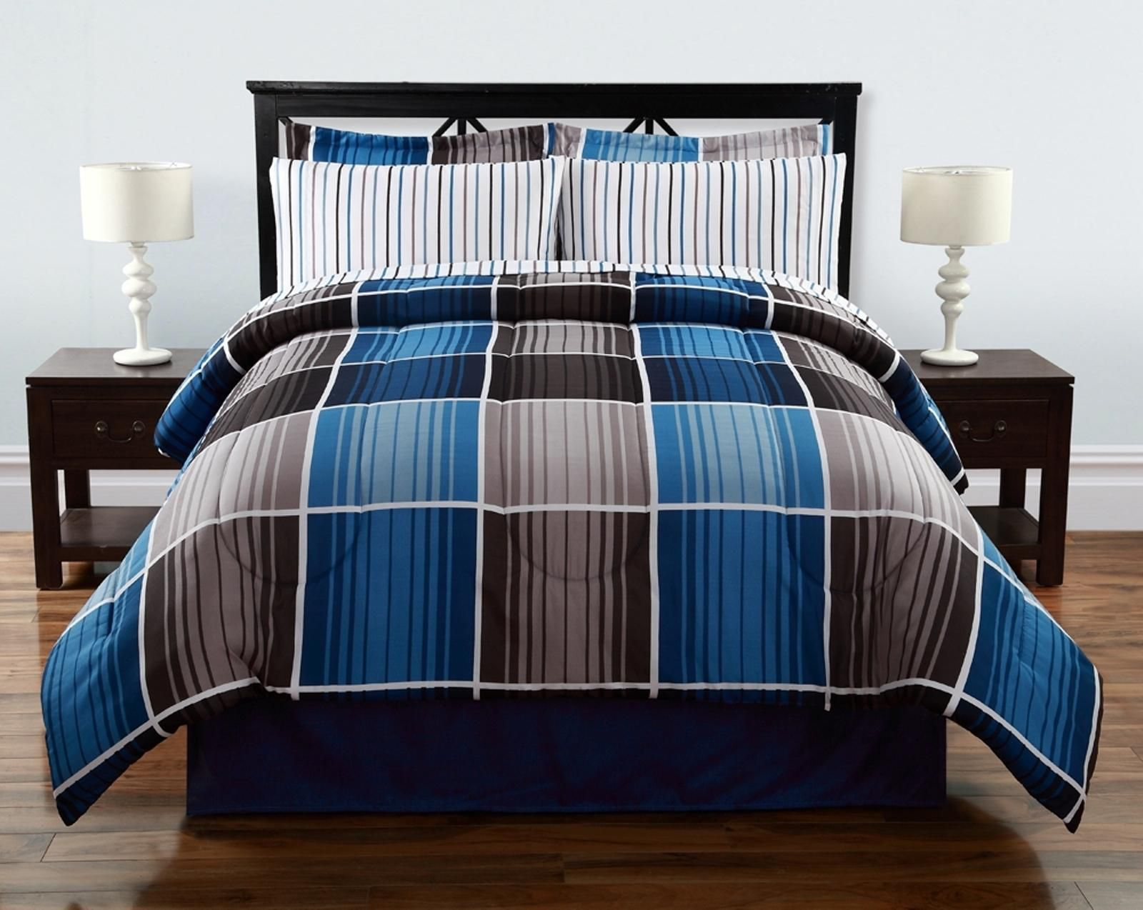 Colormate Complete Bed Set Cooper Plaid Bed Amp Bath