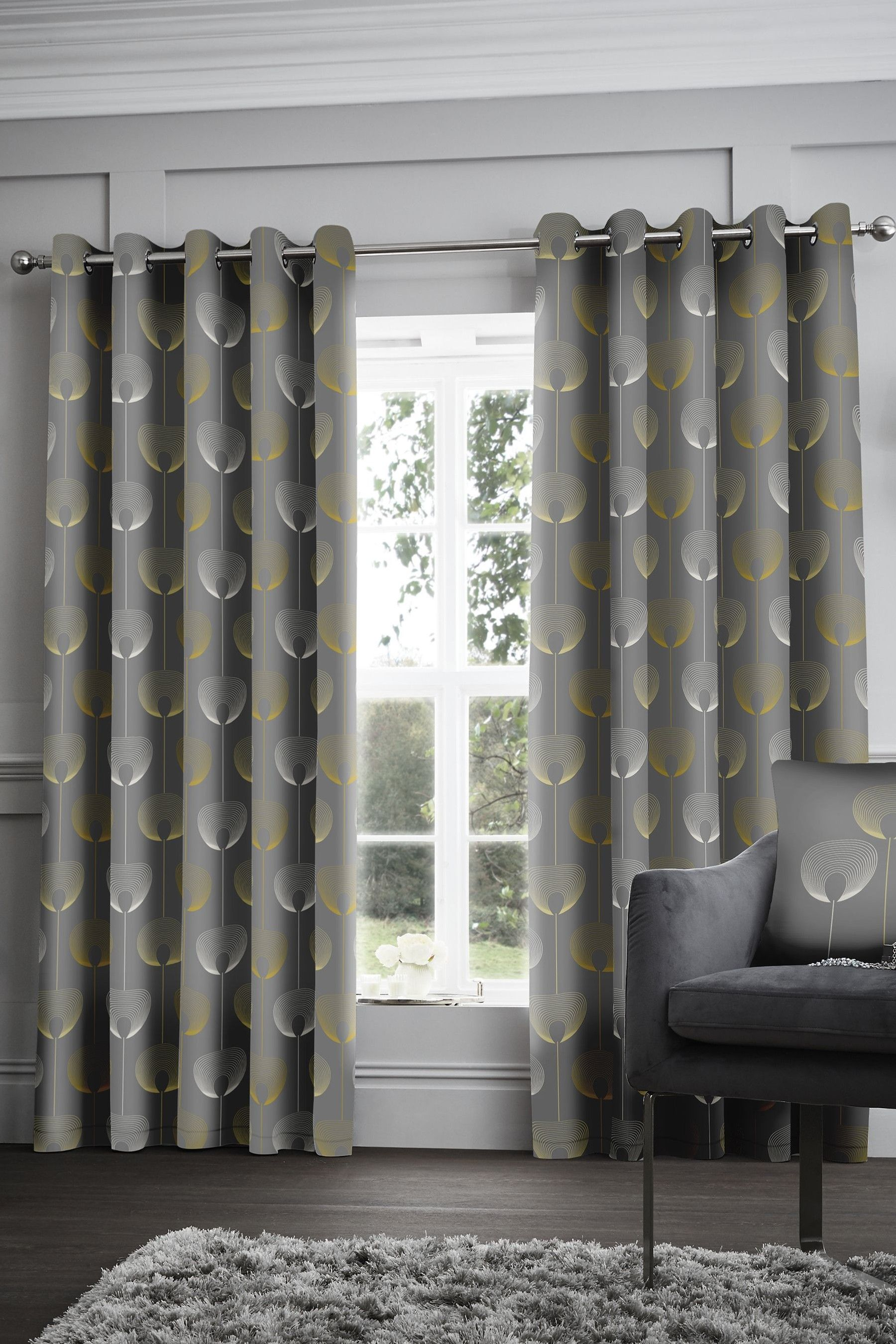 Buy Appletree Elba Geo Blackout Thermal Eyelet Curtains From The Next Uk Online Shop Grey Curtains Curtains Blackout Eyelet Curtains