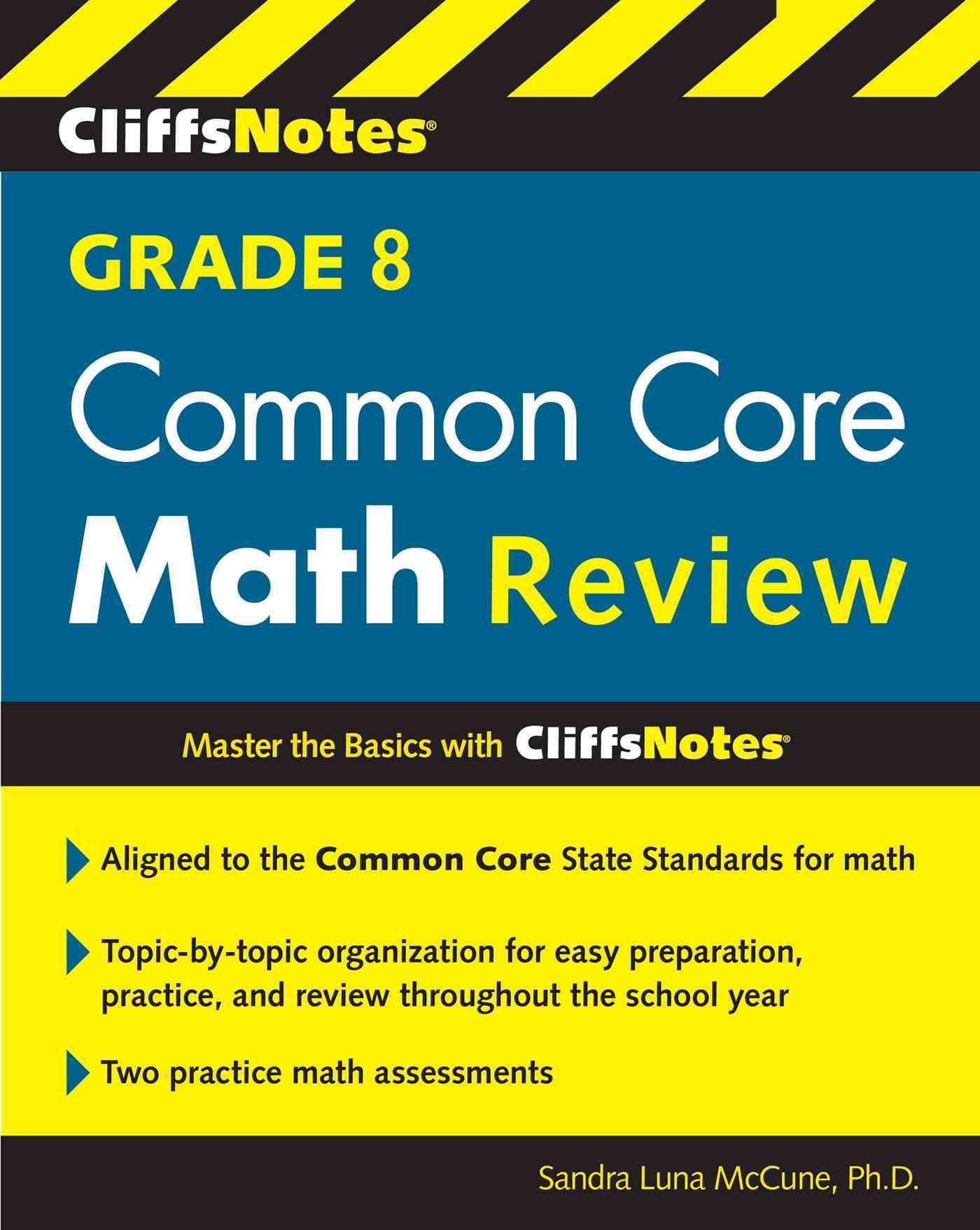 Cliffsnotes Grade 8 Common Core Math Review | Products | Pinterest ...