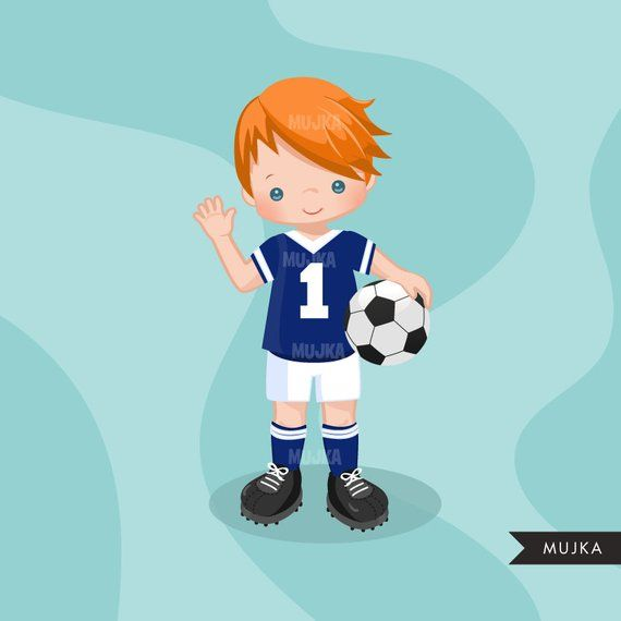 Soccer Clipart Sport Graphics Boys Soccer Player Characters Etsy In 2020 Soccer Boys Sports Graphics Player Character