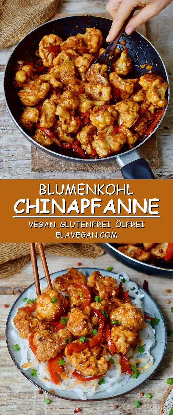 Pikante Chinapfanne | Blumenkohl Kung Pao (Vegan) - Elavegan