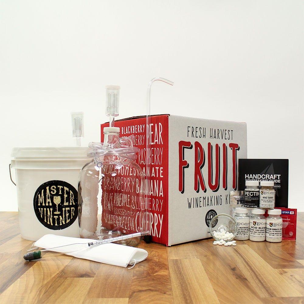 Master Vintner Fresh Harvest Fruit Winemaking Kit Wine Making Kits Winemaking Fruit Wine