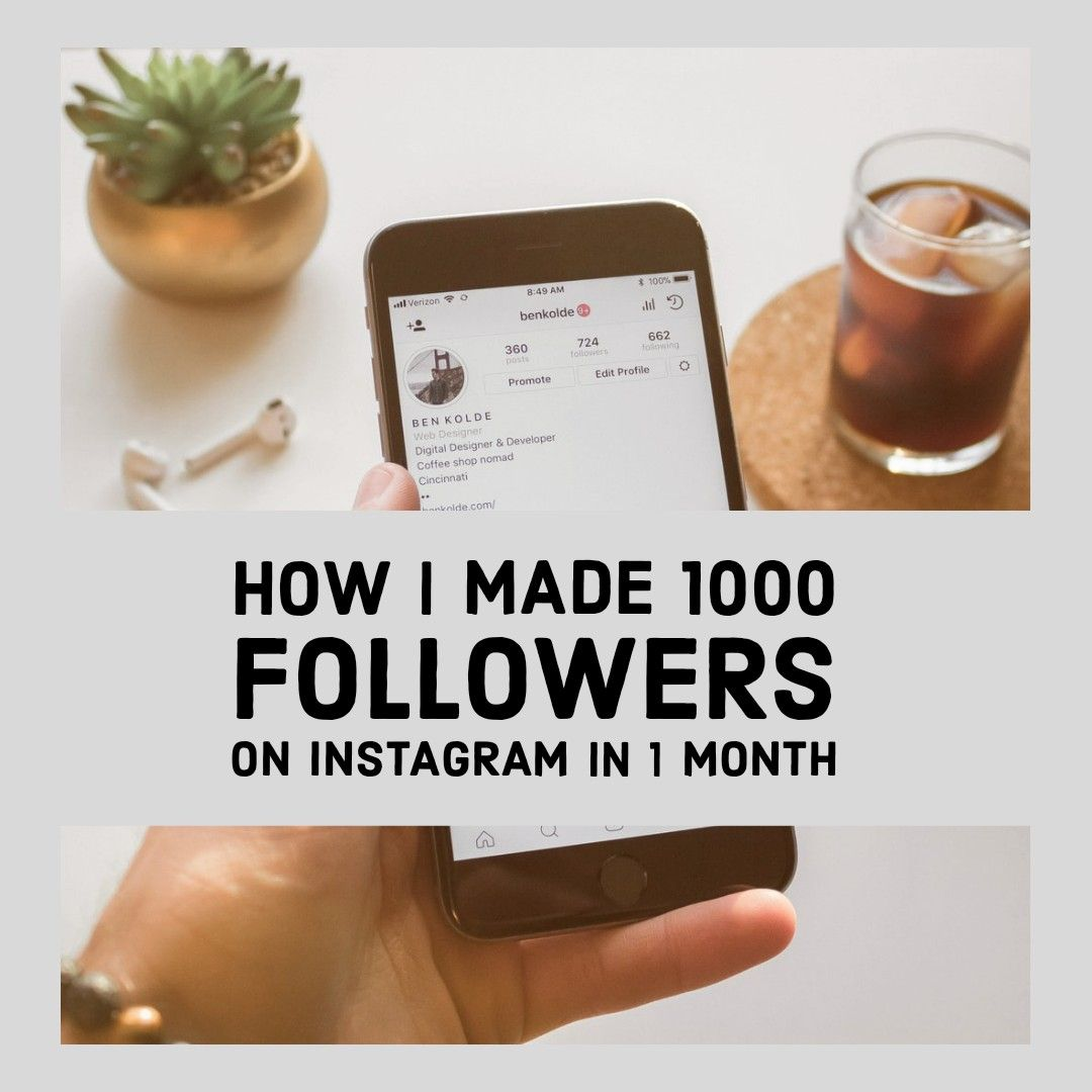 How to get over 1000 followers in 1 month #instagram