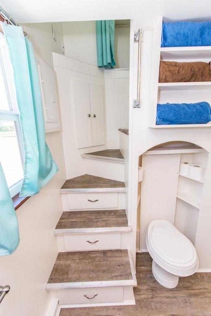 78 amazing loft stair for tiny house ideas - HomeSpecially #tinyhousebathroom