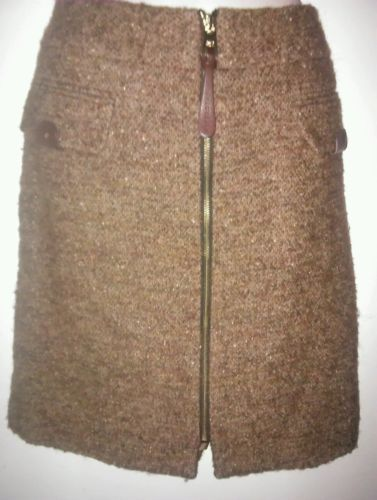 Vittadini Women's Wool Front Zipper Career Skirt Size 12 Adrienne Vittadini