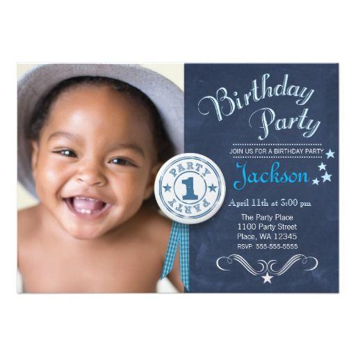 Modern Black Chalkboard First Birthday Party Boy Invitation Zazzle Com Boy Birthday Parties 1st Birthday Invitations Boy Birthday Party Invitations
