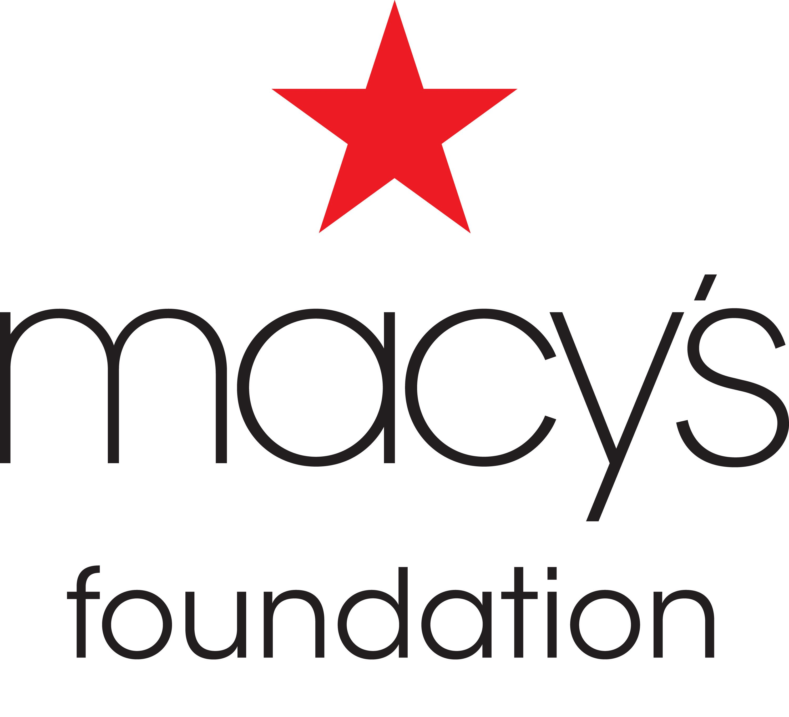 A huge shout out of appreciation to The Macy's Foundation