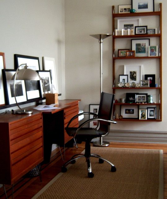 15 marvelous midcentury home office design mid century office designs and room - Mid century modern home office ideas ...