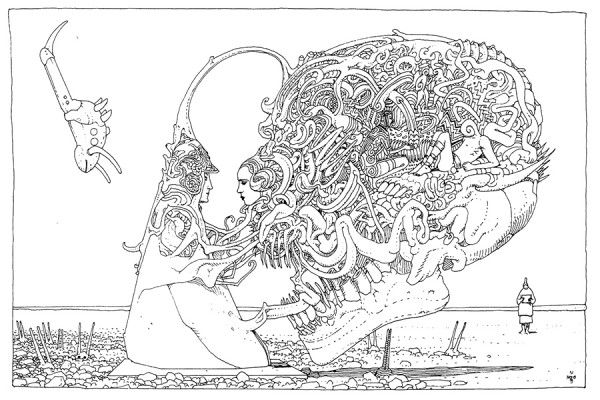 Drawings by Moebius (Jean Giraud)
