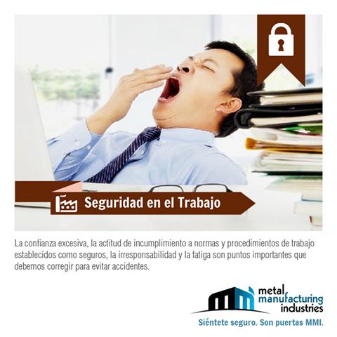 La #seguridad y la prevención de accidentes en tu lugar de trabajo está en tu manos.