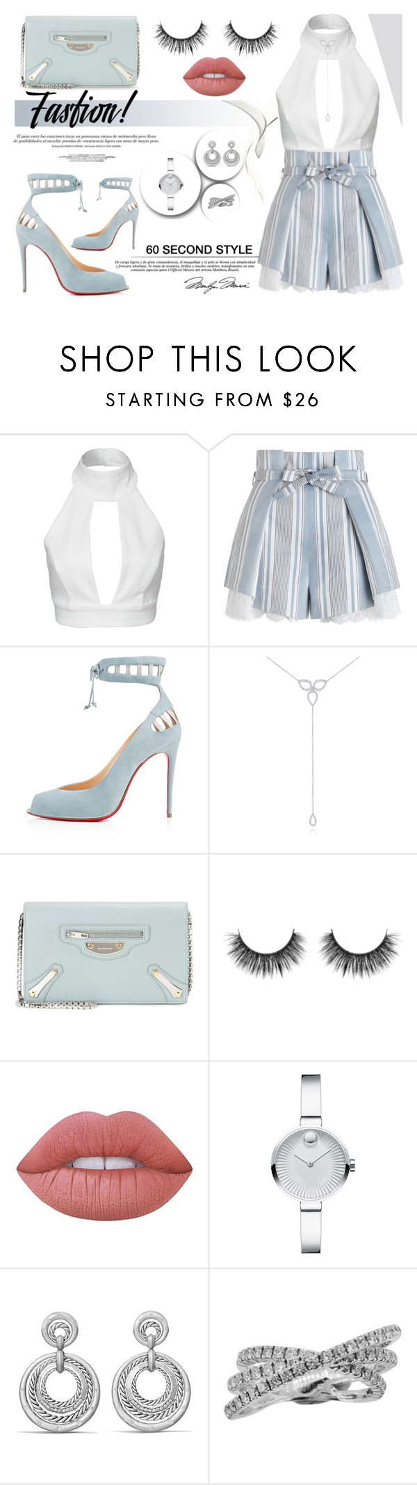 """Perfect Style of Monday"" by yurisnazalieth ❤ liked on Polyvore featuring AQ/AQ, Zimmermann, KC Designs, Balenciaga, Kale, Kerr®, Lime Crime, Movado and David Yurman"