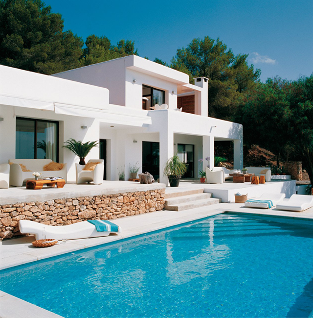 Great Symmetry With Architectural Designs Mediterranean: Coastal Style....pool And Great Modern Patio