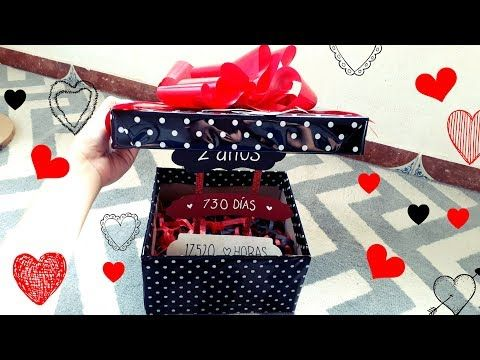 1 diy caja para mi novio con letrero youtube - Sorpresas para enamorados ...