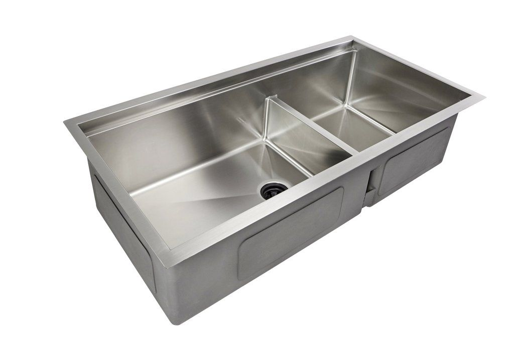 39 Ledge Undermount Double Bowl Stainless Steel Sink Ledge Sink