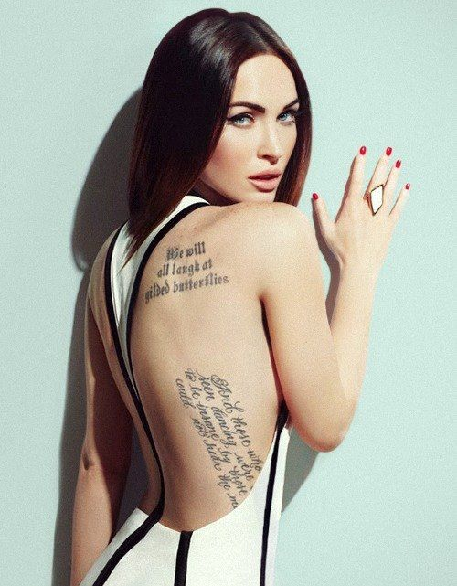 Megan Fox And Her Tattoos Celebrity Tattoos Megan Fox Tattoo Megan Fox