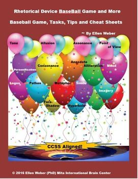 Play Rhetorical Device Baseball Game Learn Through Fun Ccss