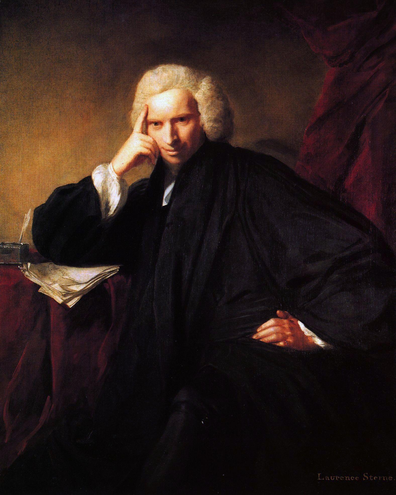 Portrait Of Laurence Sterne Joshua Reynolds 1760