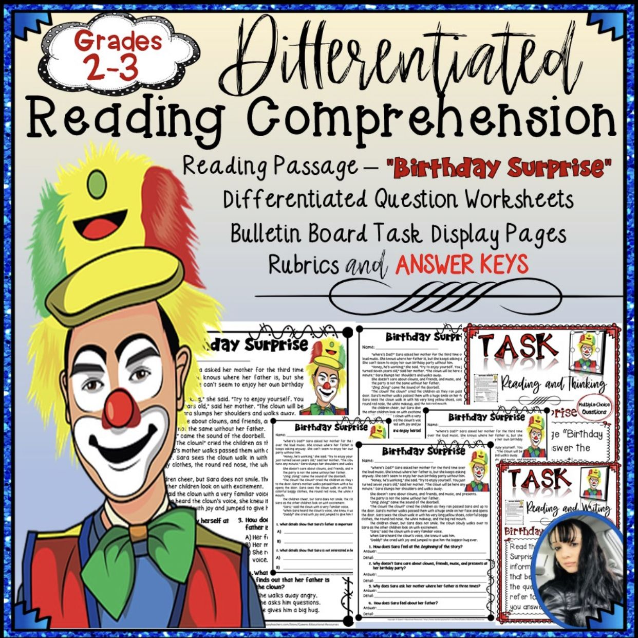 Reading Comprehension Passage 4 With Differentiated