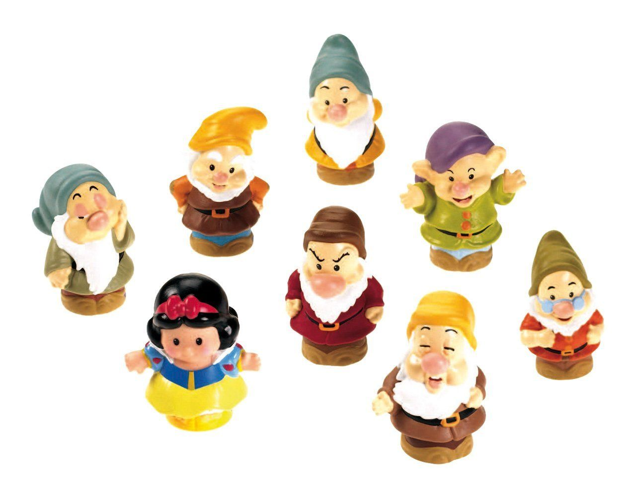 Amazon.com: Fisher Price Little People Snow White & The Seven Dwarfs: Toys & Games