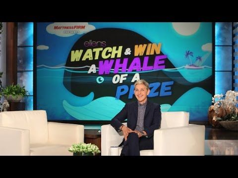 Ellen's Watch & Win a Whale of a Prize
