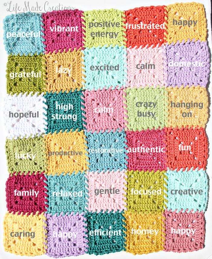 crochet mood blanket: march recap