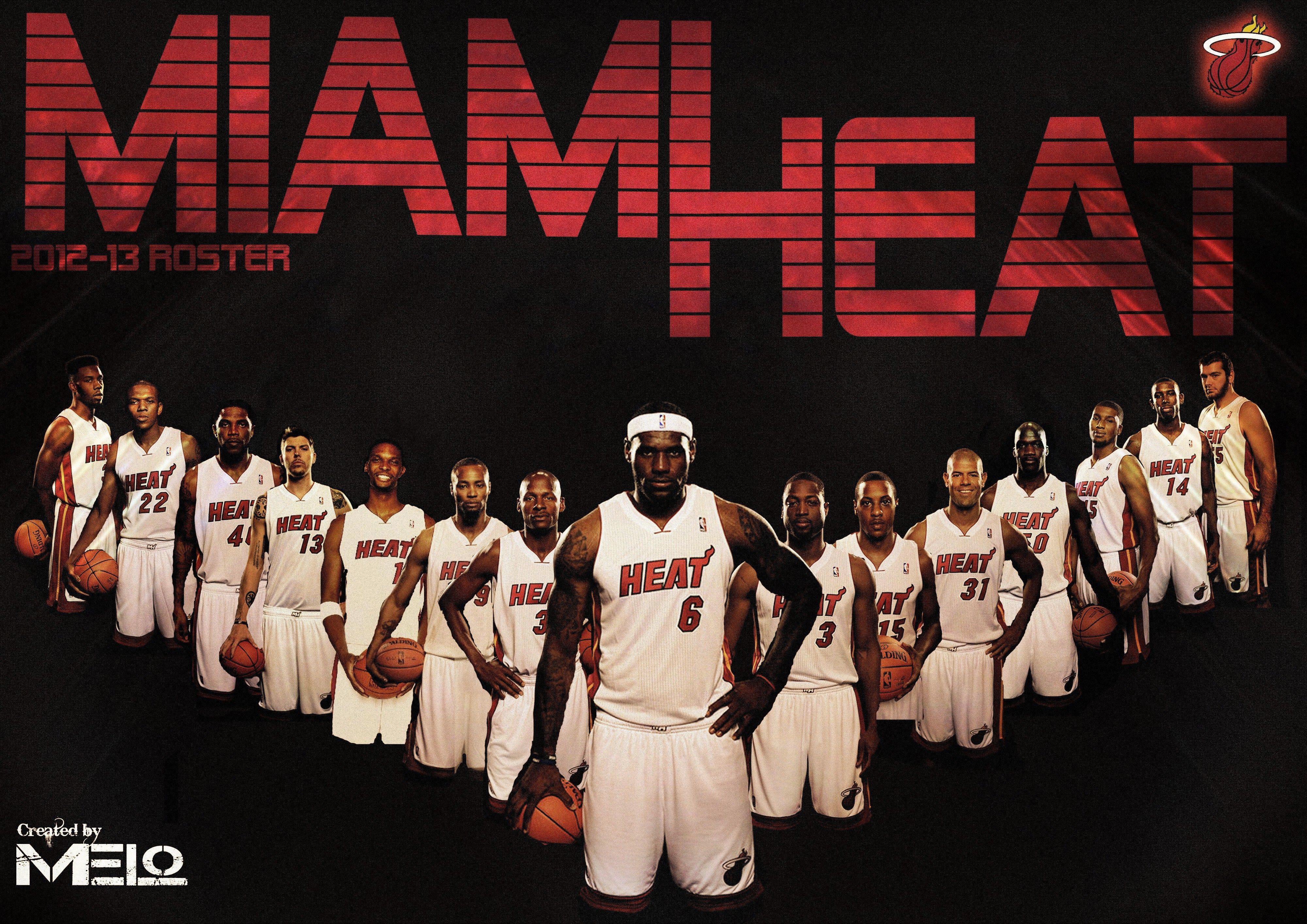 Miami heat roster nba - Miami Heat Hd Wallpapers Heat Rosternba
