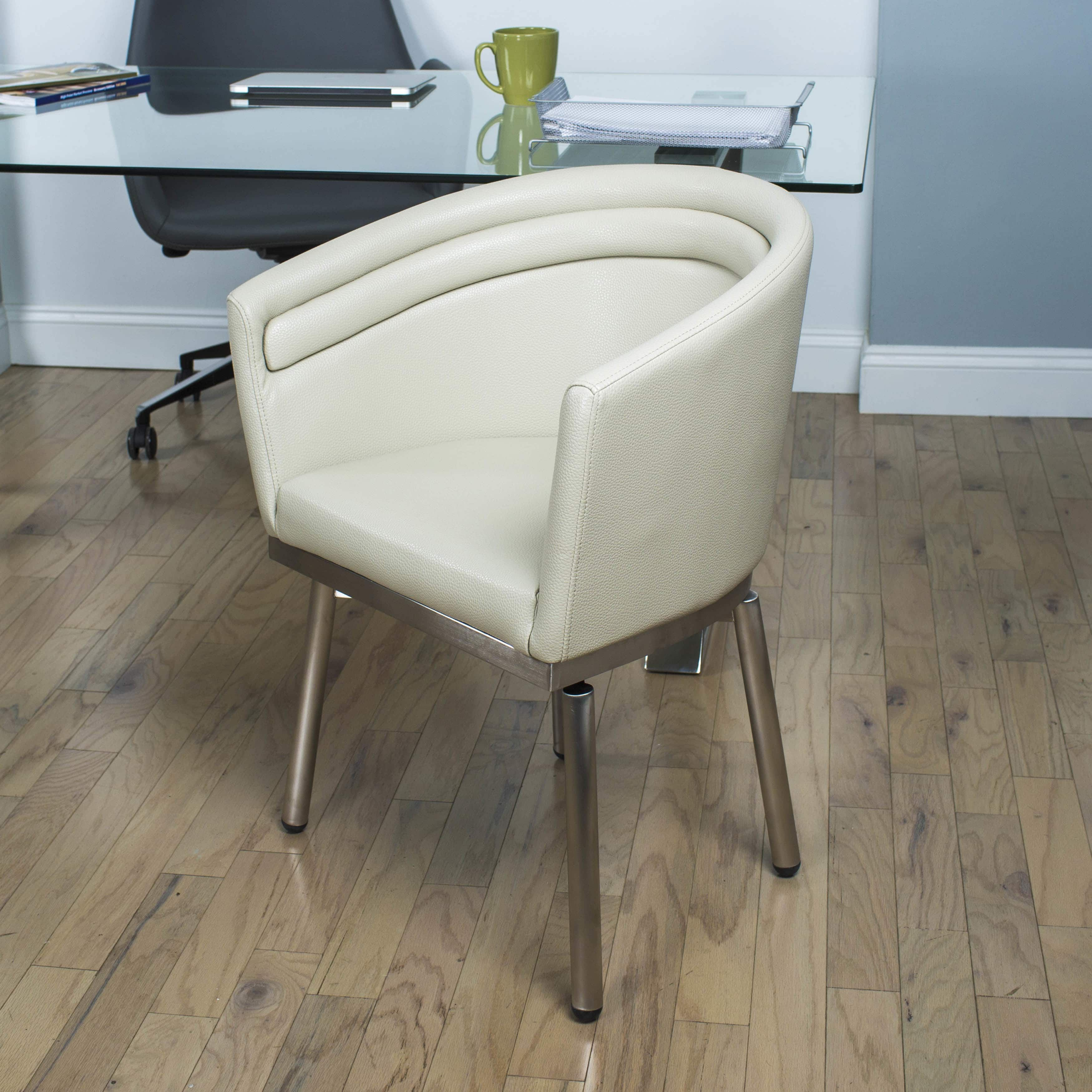 Mix Matrix Memory Brushed Stainless Steelfaux Leather Swivel Fascinating Leather Swivel Dining Room Chairs Inspiration Design