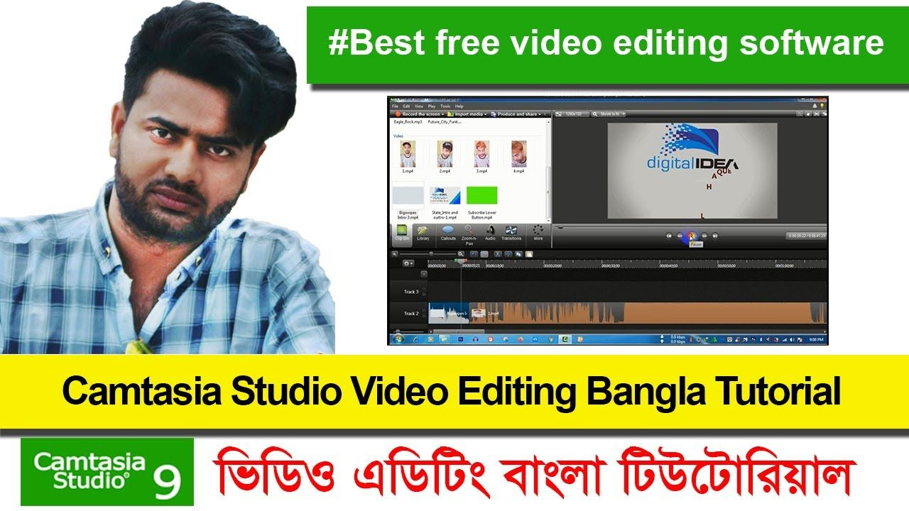 Camtasia Studio Video Editing Bangla Tutorial || #Best video ...